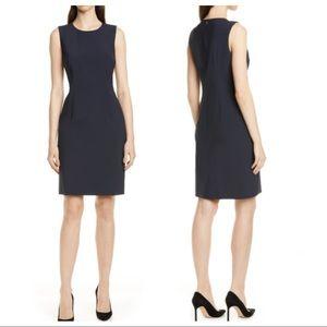 Hugo Boss Black Dirusa Stretch Wool Sheath Dress
